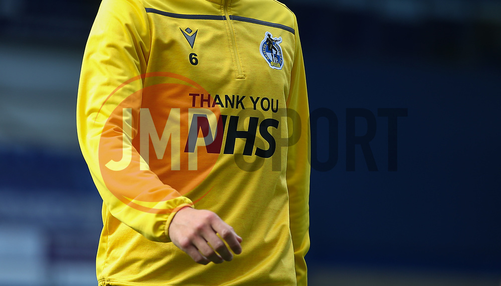 Thank you NHS seen on the training tops - Mandatory by-line: Arron Gent/JMP - 05/09/2020 - FOOTBALL - Portman Road - Ipswich, England - Ipswich Town v Bristol Rovers - Carabao Cup