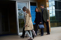 Queen Letizia of Spain, King Felipe of Spain, Crown Princess Leonor, Princess Sofia, Queen Sofia of Spain visited King Juan Carlos of Spain after his knee surgery at La Moraleja Hospital on April 8, 2018 in Madrid, Spain. 08 Apr 2018 Pictured: Queen Letizia of Spain, King Felipe of Spain, Crown Princess Leonor, Princess Sofia, Queen Sofia of Spain. Photo credit: MEGA TheMegaAgency.com +1 888 505 6342