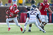 DALLAS, TX - NOVEMBER 16: K.C. Nlemchi #25 of the SMU Mustangs breaks free against the Connecticut Huskies on November 16, 2013 at Gerald J. Ford Stadium in Dallas, Texas.  (Photo by Cooper Neill/Getty Images) *** Local Caption *** K.C. Nlemchi