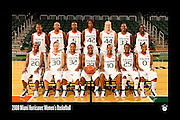 2008 Miami Hurricanes Women's Basketball Team Photo