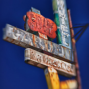 Garden Motel Sign - Kingsburg, CA - Old Highway 99 - HDR - Lensbaby