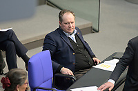 DEU, Deutschland, Germany, Berlin, 25.02.2021: Siegbert Droese (MdB, AfD) in der Plenarsitzung im Deutschen Bundestag.
