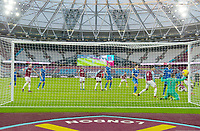 Football - 2020 / 2021 Premier League - West Ham United vs Brighton & Hove Albion - London Stadium<br /> <br /> Brighton & Hove Albion's Lewis Dunk (obscured) scores his side's second goal.<br /> <br /> COLORSPORT/ASHLEY WESTERN
