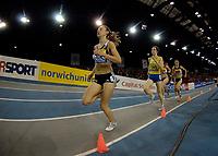 Photo: Jed Wee.<br /> Norwich Union International, Glasgow. 27/01/2007.<br /> <br /> Britain's Lisa Dobriskey wins the women's 1500m.
