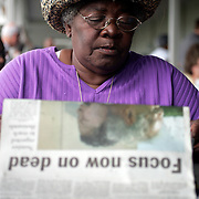 PALM BEACH, FLORIDA - September 5, 2005: ..Hurricane Katrina evacuees from New Orleans, Louisiana enjoy their first morning outside the ravaged New Orleans at the complex housing them in Palm Beach, Florida on Sept 5, 2005. (Photo by Todd Bigelow/Aurora)