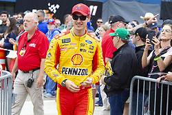 June 10, 2018 - Brooklyn, Michigan, U.S - NASCAR driver JOEY LOGANO (22) walks in the pit area at Michigan International Speedway. (Credit Image: © Scott Mapes via ZUMA Wire)