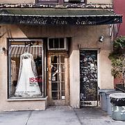 Wedding dess in a vintage shop in East village
