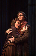 In a sence from the Florida Grand Opera production of La bohème. A poor but high-spirited young artist Rodolfo, a poet; played by Richard Andrews declares his true love for a dying Mimi. La bohème one of the best-loved operas by audiences worldwide is story of youth and never ending love. (El Nuevo Herald Photo/Gaston De Cardenas)