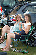 OLIVIA MCMEILL LOVE; POLLY STEBBINS, Glorious Goodwood. Thursday.  Sussex. 3 August 2013