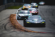 August 5 2018: IMSA Weathertech Continental Tire Road Race Showcase. 86 Michael Shank Racing, Acura NSX GT3, Katherine Legge, Alvaro Parente