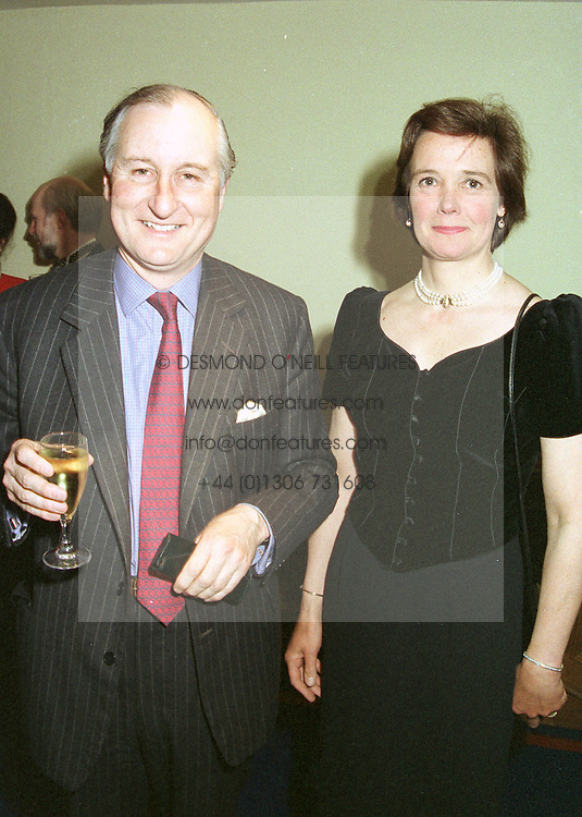 MR GEOFFREY VAN CUTSEM a friend of the Prince of Wales and MRS LUCY PRICE at a dinner in London on April 28th 1997.LXZ 24