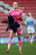 Manchester City goalkeeper Ellie Roebuck (26) Portrait full length during the FA Women's Super League match between Manchester United Women and Manchester City Women at Leigh Sports Village, Leigh, United Kingdom on 14 November 2020.