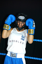 TV presenter LOUISE WHITE (blue shorts) at the Boodles Boxing Ball in aid of the sports charity Sparks  organised by Jez lawson, James Amos and Charlie Gilkes held at The Royal Lancaster Hotel, Lancaster Terrae London W2 on 3rd June 2006.<br /> <br /> NON EXCLUSIVE - WORLD RIGHTS