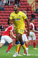 AFC Wimbledon striker Tyrone Barnett (23) during the EFL Sky Bet League 1 match between Charlton Athletic and AFC Wimbledon at The Valley, London, England on 17 September 2016. Photo by Stuart Butcher.