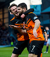 08/04/15 SCOTTISH PREMIERSHIP<br /> DUNDEE v DUNDEE UTD<br /> DENS PARK - DUNDEE<br /> Dundee United's Aidan Connolly (left) congratulates team-mate Nadir Ciftci on his goal