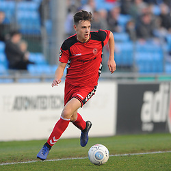 TELFORD COPYRIGHT MIKE SHERIDAN 23/2/2019 - Ryan Barnett of AFC Telford (on loan from Shrewsbury Town Football Club) during the FA Trophy quarter final fixture between Solihull Moors and AFC Telford United at the Automated Technology Group Stadium