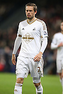 Gylfi Sigurdsson of Swansea City looks on. Barclays Premier League match, Crystal Palace v Swansea city at Selhurst Park in London on Monday 28th December 2015.<br /> pic by John Patrick Fletcher, Andrew Orchard sports photography.