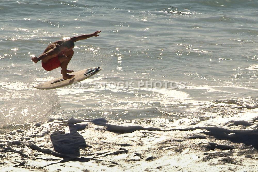 Surfing Aliso Beach In Laguna Beach California