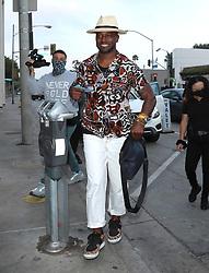 Taye Diggs is seen in Los Angeles, CA.