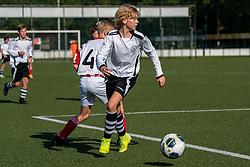 Mink #11 of VV Maarssen in action. VV Maarssen O14-1 played the first competition match against Geinoord JO14-1. Maarssen won 2-0 on September 5, 2020 at Daalseweide sports park Maarssen.