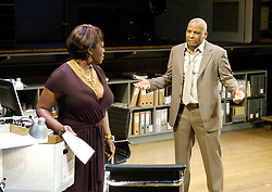 Statement of Regret<br /> by Kwame Kwei-Armah<br /> at the Cottesloe Theatre, London, Great Britain<br /> press photocall<br /> 13th November 2007<br /> <br /> Don Warrington (as Kwaku Mackenzie)<br /> Ellen Thomas (as Lola Mackenzie)<br /> <br /> Photograph by Elliott Franks