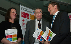 Pictured: Scotland's Chief Scientific Adviser Professor Sheila Rowan, Science Minister Richard Lochhead and Scottish Science Advisory Council Chair Professor Paul Boyle <br /> <br /> Science Minister Richard Lochhead, Scottish Science Advisory Council Chair Professor Paul Boyle and Scotland's Chief Scientific Adviser Professor Sheila Rowan spoke at the official launch of a major new report on Scottish science.  The report examines the scientific landscape in Scotland between 2007 and 2016 and compared how the Scottish science and research sector has performed against other similar sized countries.  A number of scientific research projects from research institutions across Scotland will also exhibited at the event.<br /> <br /> <br /> Ger Harley | EEm 23 January 2019