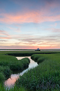 Sunrise at the marshland in Eastham, Cape Cod.