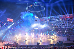 February 10, 2018 - Pyeongchang-Gun, Gangwon, South Korea - Opening ceremony at 2018 Pyeongchang winter olympics at Pyeongchang olympic stadium, Pyeongchang, South Korea. February 09, 2018. Ulrik Pedersen/Nurphoto  (Credit Image: © Ulrik Pedersen/NurPhoto via ZUMA Press)