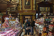 Moscow, Russia, 25/01/2011..Eliseevskiy, Moscow's most famous grocery store, founded in 1901 by millionaire Grigory Eliseev in a city centre palace.