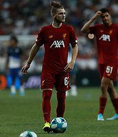 ISTANBUL, TURKEY - AUGUST 14: Harvey Elliott of Liverpool looks on during the warm-up ahead of the UEFA Super Cup match between Liverpool and Chelsea at Besiktas Park on August 14, 2019 in Istanbul, Turkey. (Photo by MB Media/Getty Images)