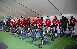 CARDIFF, WALES - Monday, November 18, 2019: Wales players during a training session at the Vale Resort ahead of the final UEFA Euro 2020 Qualifying Group E match against Hungary. (Pic by David Rawcliffe/Propaganda)