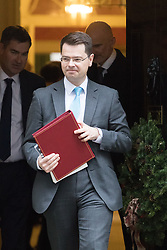 Downing Street, London, December 13th 2016. Northern Ireland Secretary James Brokenshire leaves the weekly meeting of the cabinet at Downing Street, London.