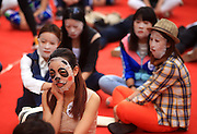 JINAN, CHINA - APRIL 29: (CHINA OUT)<br /> <br /> Staring Contest With Facial Masks <br /> <br /> Participants wearing facial masks take part in a Staring Contest at Luoyuan Street on April 29, 2105 in Jinan, Shandong province of China. A Staring Contest held by a plastic surgery hospital attracted nearly 50 boys and girls that participants should wear facial masks and could not move or even other facial expressions. <br /> ©Exclusivepix Media