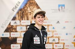 Domen Skofic at press conference of Slovenian National Climbing team before new season, on March 23, 2021 in Bolder Scena, Ljubljana, Slovenia. Photo by Vid Ponikvar / Sportida