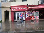 Raining, Hastings, East Sussex, 30 April 2018