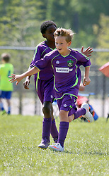 10 April 2016. Hammond, Louisiana.<br /> South Tangi Youth Soccer Association (STYSA), Chappapeela Sports Complex, 30th Annual Strawberry Cup,  <br /> New Orleans Jesters Youth Academy U10 team Purple take on CD Motagua in the Cup Final.<br /> Jesters win 5-4 to become Strawberry Cup champions for the 2nd year running. <br /> Photo©; Charlie Varley/varleypix.com