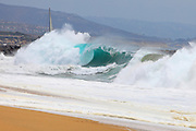 Big Wave At The Wedge In Newport