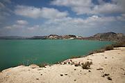 The artificial reservoir of Embalse de La Pedrera near Torremendo, in the Alicante region of the Valencian Community on the Costa Blanca.