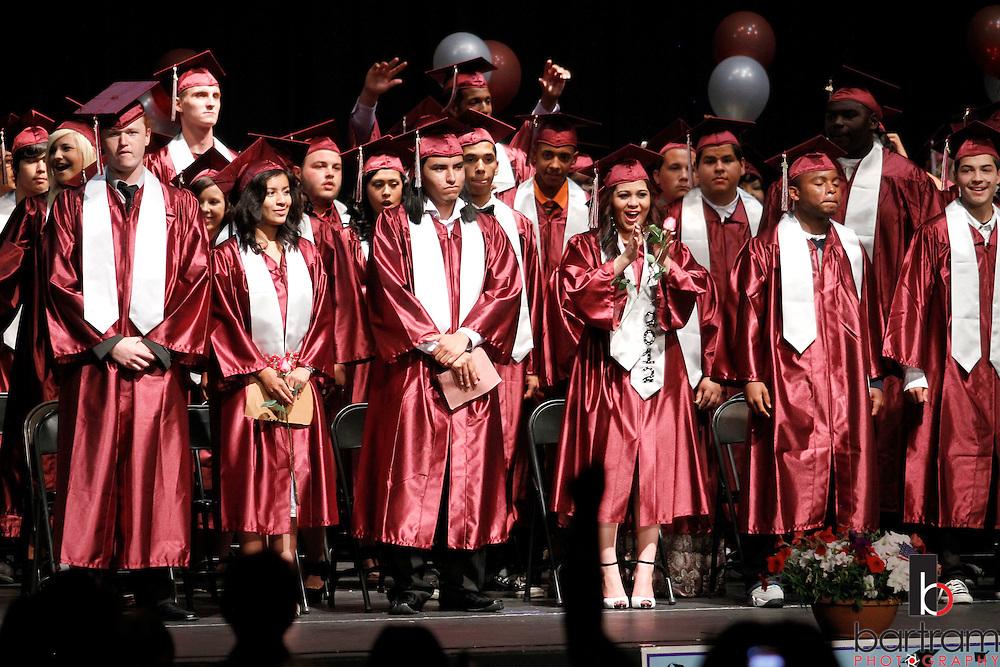 Live Oak High School seniors enter graduation at the Beede Auditorium at Antioch High School on Thursday, June 7, 2012. (Photo by Kevin Bartram)