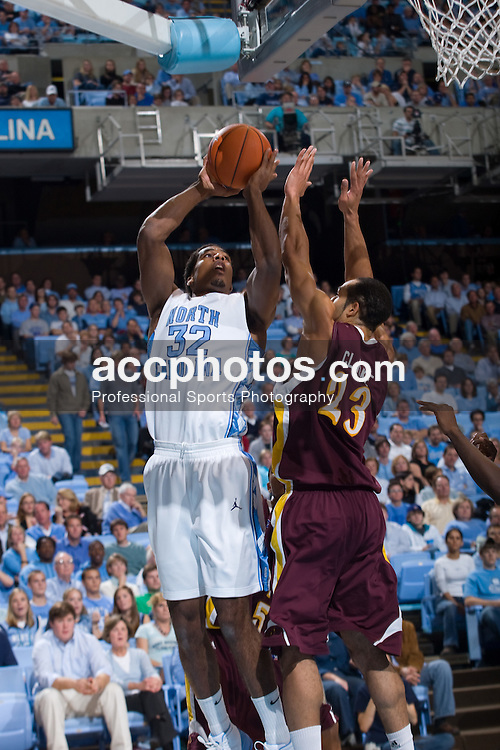 18 November 2007: North Carolina Tar Heels forward Alex Stepheson (32) in a 107-72 win over the Iona Gales at the Dean Smith Center in Chapel Hill, NC.