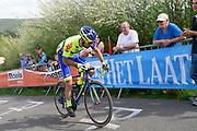 WB Aqua Protect Veranclassic rider Thomas Deruette on the Côte de la Redoute climb during the 2018 Liège-Bastogne-Liège elite men's race on Sunday 22 April 2018.