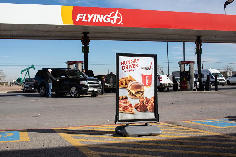 Flying J gas station in Midland Texas in Permain Basin.
