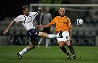 Photo: Paul Thomas/Sportsbeat Images.<br /> Preston North End v Hull City. Coca Cola Championship. 04/12/2007.<br /> <br /> Brett Ormerod (L) of Preston tries to stop Wayne Brown.
