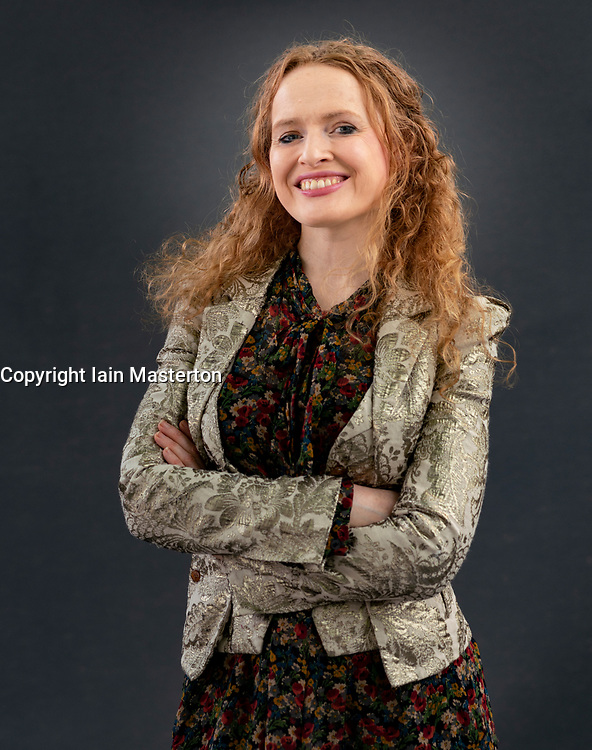 Edinburgh, Scotland, UK. 24 August 2019. Kate Williams. Author, social Historian and broadcaster Kate Williams turns her attention to the greatest battle of cousins n history between Queen Elizabeth I and Mary, Queen of Scots in her book Rival Queens. The Betrayal of Mary, Queen of Scots. Iain Masterton/Alamy Live News.