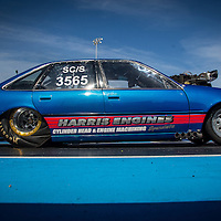 Justin Taylor (3565) launching his Holden Commodore Superchrged Outlaw at the Perth Motorplex.