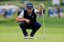 September 8, 2018 - Newtown Square, Pennsylvania, United States - Justin Thomas lines up a putt on the 16th green during the third round of the 2018 BMW Championship. (Credit Image: © Debby Wong/ZUMA Wire)