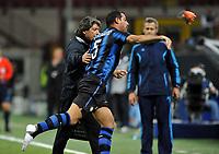 La reazione di Dejan Stankovic (Inter) <br /> Inter Tottenham - UEFA Champions League 2010-2011<br /> Stadio San Siro, Milano, 20/10/2010<br /> © Giorgio Perottino / Insidefoto