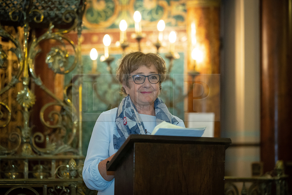 © Licensed to London News Pictures . 22/09/2019. Brighton, UK. MARGARET HODGE speaks at a fringe event by the Jewish Labour Movement at middle Street Brighton Synagogue, during the second day of the 2019 Labour Party Conference from the Brighton Centre . Photo credit: Joel Goodman/LNP
