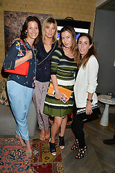 Left to right, JULIA ZAOUK, MALIN JEFFERIES, KATYA FORMICHEV and ANNA AGAG at the Cavan.com Pop-Up sale held at The Belgraves Hotel, 20 Chesham Place, London on 20th May 2014.