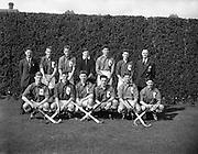 09/04/1960<br /> 04/09/1960<br /> 09 April 1960<br /> Hockey: Ireland v Wales Schoolboys Hockey International at Londonbridge Road, Sandymount, Dublin. The Welsh team.